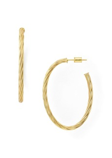 AQUA Rope Twist Hoop Earrings in 18K Gold-Plated Sterling Silver or Sterling Silver - 100% Exclusive