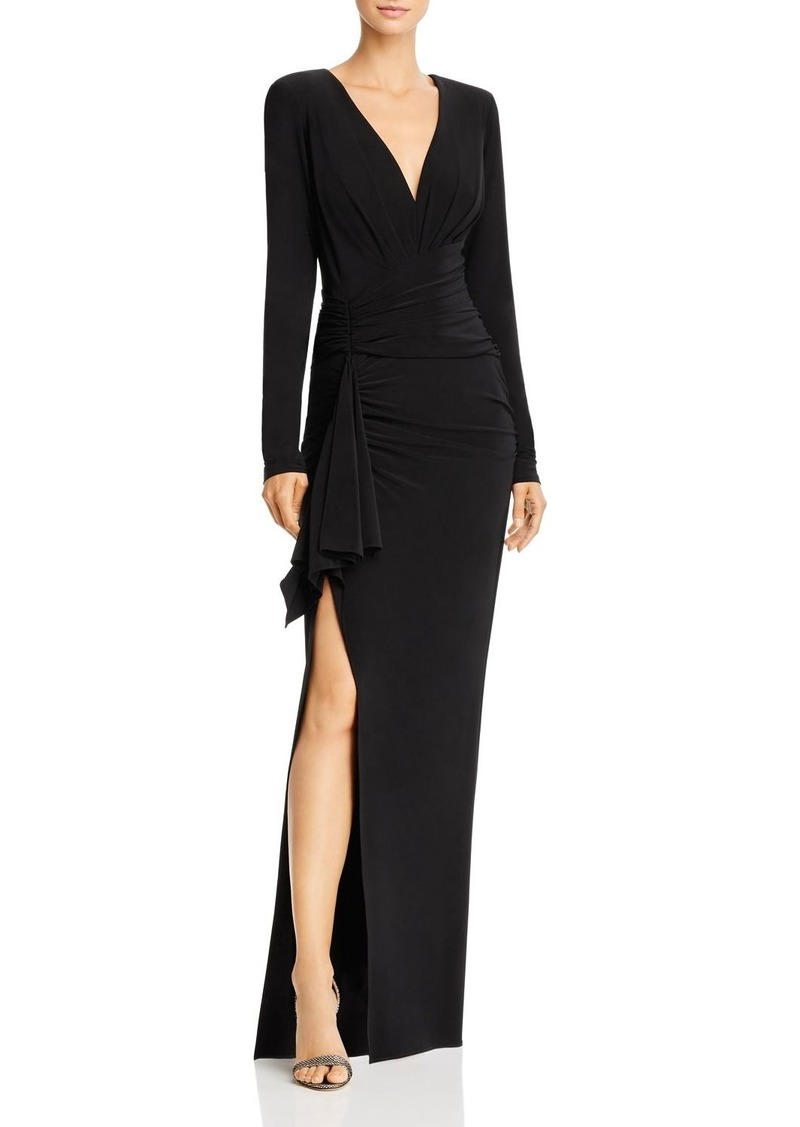 AQUA Ruched Jersey Gown - 100% Exclusive