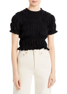 AQUA Ruched Short Sleeve Top - 100% Exclusive