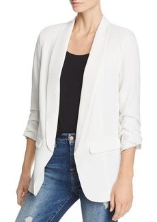 AQUA Ruched Sleeve Blazer - 100% Exclusive