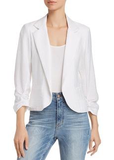AQUA Ruched Sleeve Open-Front Blazer - 100% Exclusive