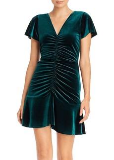 AQUA Ruched Velvet Dress - 100% Exclusive