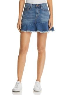 AQUA Ruffle-Hem Denim Skirt - 100% Exclusive