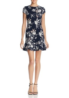 AQUA Ruffle-Hem Floral Print Dress - 100% Exclusive