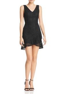 AQUA Ruffle-Hem Lace Dress - 100% Exclusive
