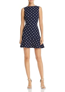 AQUA Ruffle-Hem Polka Dot Dress - 100% Exclusive