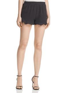 AQUA Ruffle-Hem Polka Dot Shorts - 100% Exclusive