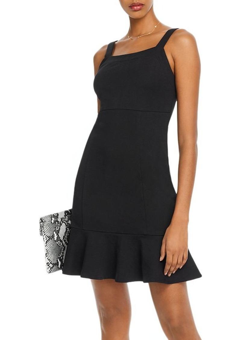AQUA Ruffle-Hem Ponte Dress - 100% Exclusive