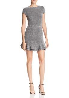 AQUA Ruffle-Hem Tweed Dress - 100% Exclusive