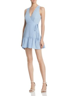 AQUA Ruffle-Hem Wrap Dress - 100% Exclusive