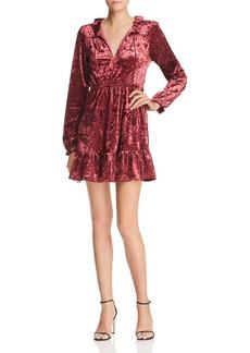 AQUA Ruffled Crushed Velvet Dress - 100% Exclusive