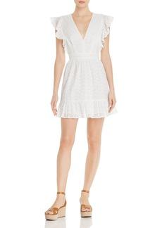 AQUA Ruffled Eyelet Cotton Dress - 100% Exclusive