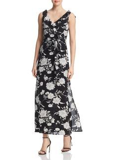 AQUA Ruffled Floral Print Maxi Dress - 100% Exclusive