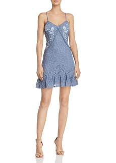 AQUA Ruffled Lace Slip Dress - 100% Exclusive
