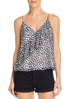 AQUA Ruffled Leopard Print Camisole - 100% Exclusive