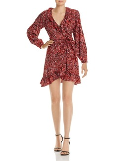 AQUA Ruffled Leopard Print Wrap Dress - 100% Exclusive