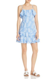 AQUA Ruffled Palm Print Dress - 100% Exclusive