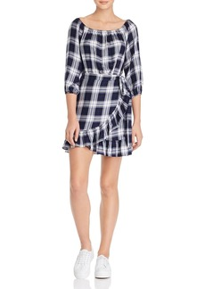 AQUA Ruffled Plaid Dress - 100% Exclusive