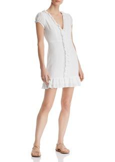 AQUA Ruffled Puff-Sleeve Dress - 100% Exclusive