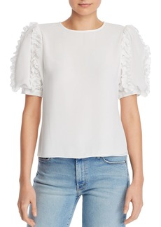 AQUA Ruffled Puff-Sleeve Top - 100% Exclusive