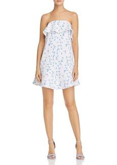 AQUA Ruffled Sprinkle-Print Strapless Dress - 100% Exclusive