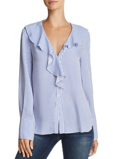 AQUA Ruffled Striped Blouse - 100% Exclusive