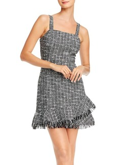 AQUA Ruffled Tweed Sheath Dress - 100% Exclusive