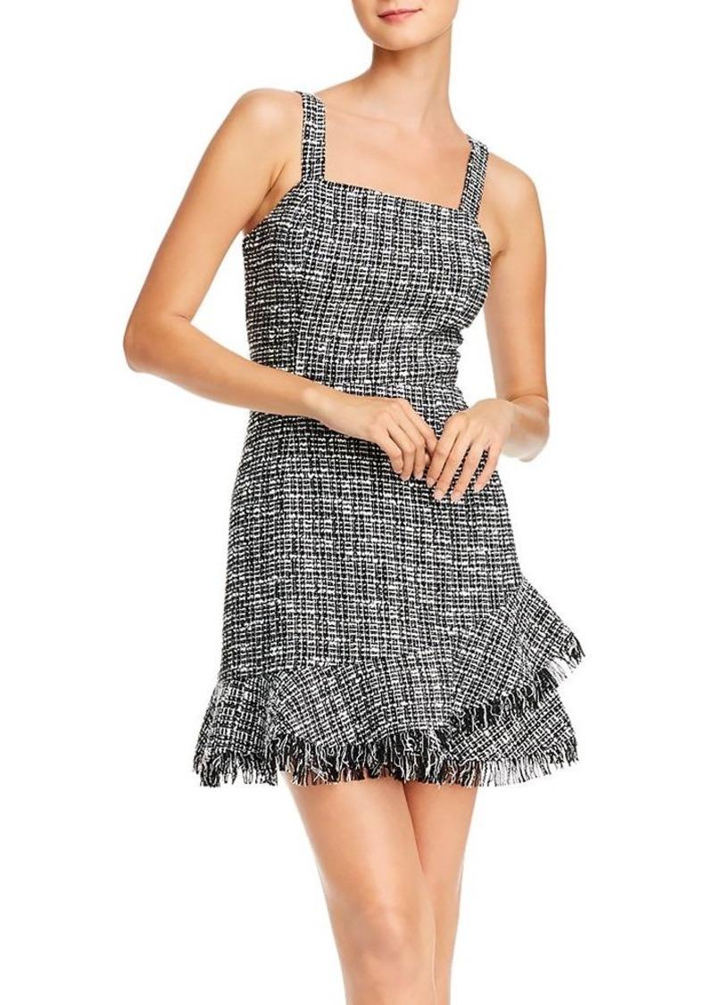 AQUA Ruffled Tweed Sheath Dress - 100% Exclusive