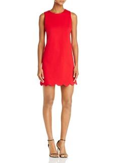 AQUA Scallop Hem Shift Dress - 100% Exclusive