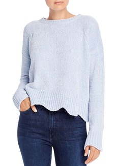 AQUA Scalloped Chenille Sweater - 100% Exclusive
