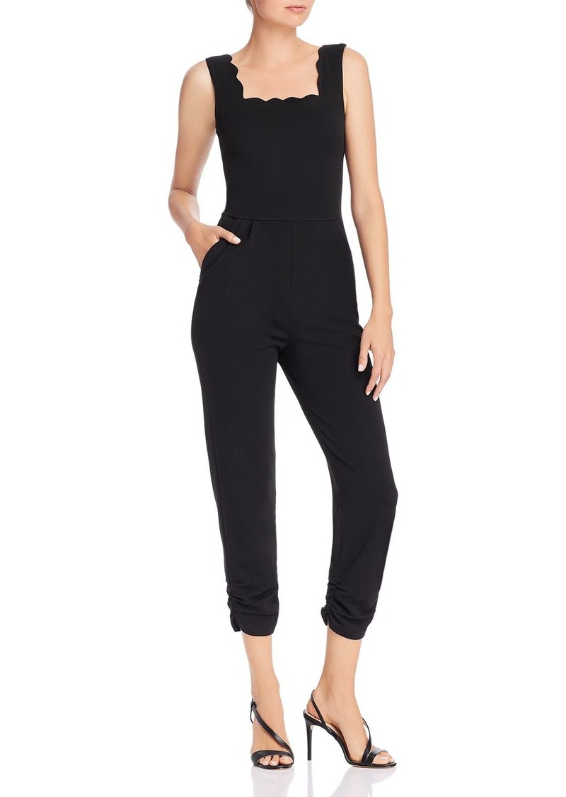 AQUA Scalloped Cropped Jumpsuit - 100% Exclusive