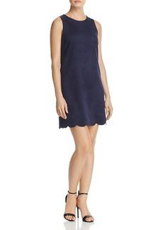 Aqua Scalloped Faux Suede Dress - 100% Exclusive