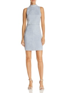 AQUA Scalloped Faux Suede Sheath Dress - 100% Exclusive