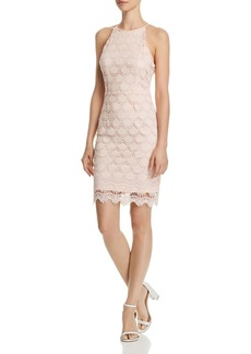 AQUA Scalloped Lace Body-Con Dress - 100% Exclusive