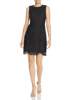 AQUA Scalloped Lace Sheath Dress - 100% Exclusive