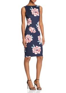 AQUA Scoop-Back Floral-Print Dress - 100% Exclusive