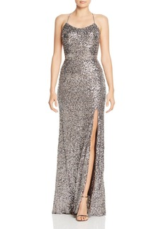 AQUA Sequin Embellished Gown - 100% Exclusive