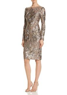 AQUA Sequined Cocktail Dress - 100% Exclusive
