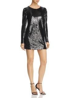 AQUA Sequined Cutout Mini Dress - 100% Exclusive
