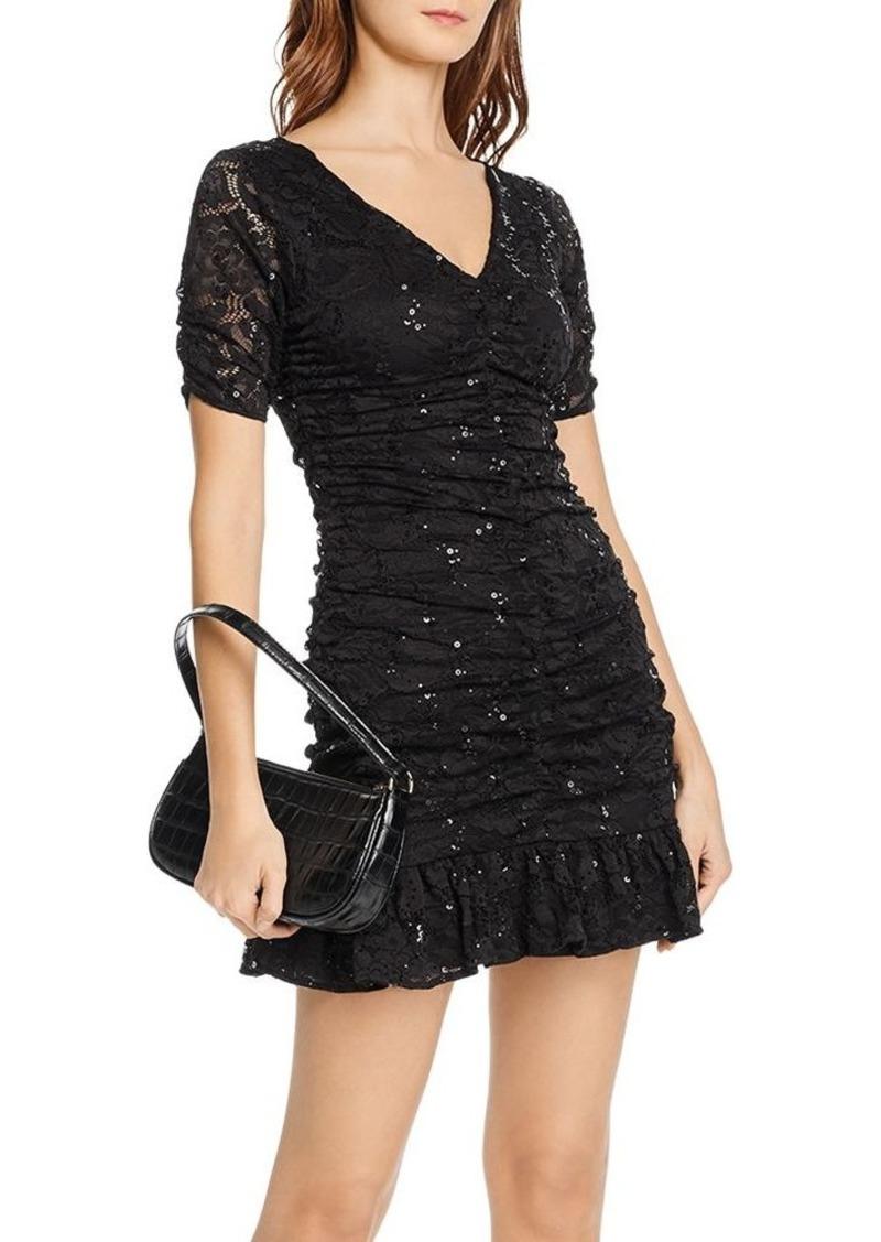 AQUA Sequined Lace Mini Dress - 100% Exclusive