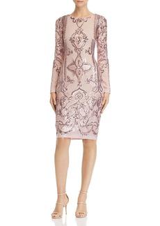 AQUA Sequined Sheath Dress - 100% Exclusive