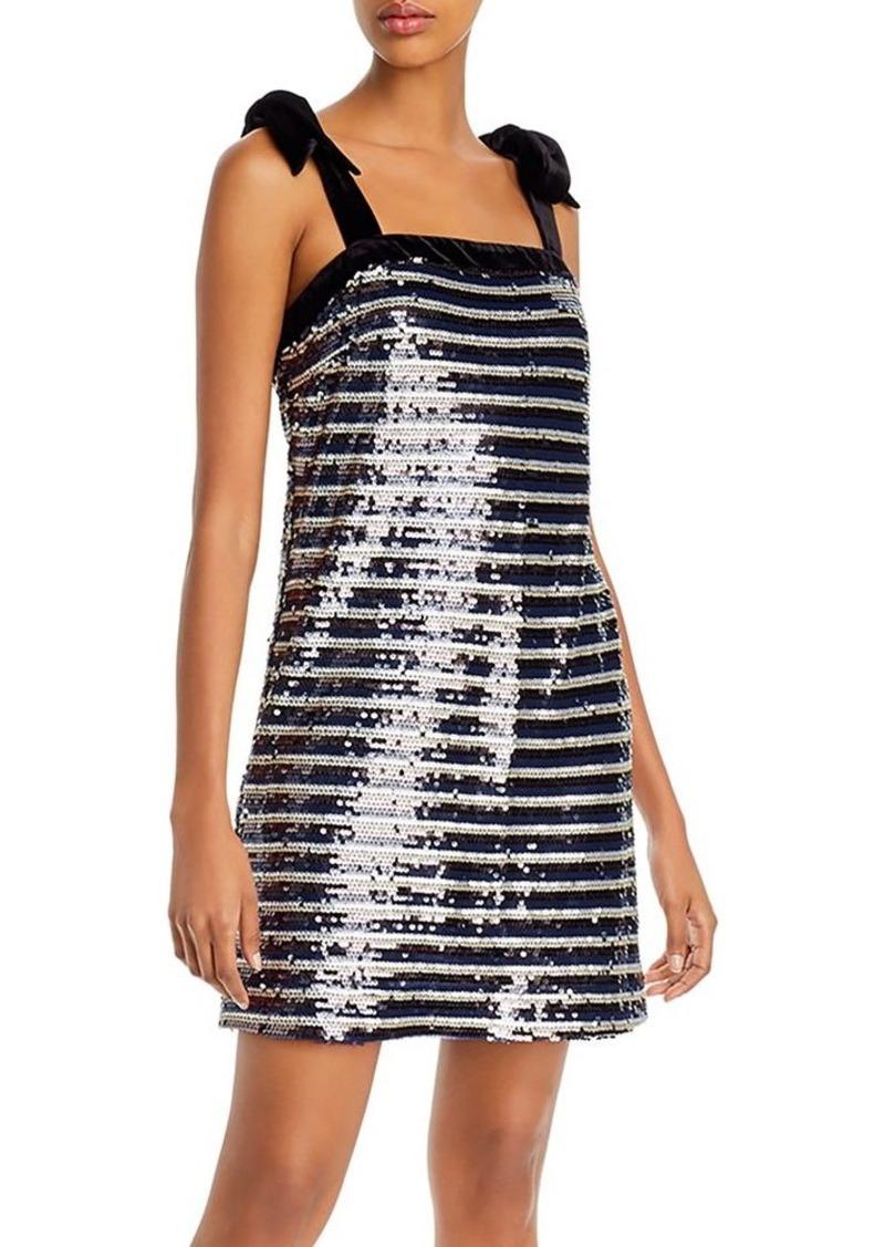 AQUA Sequined Striped Dress - 100% Exclusive