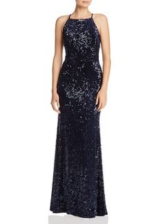 AQUA Sequined Velvet Gown - 100% Exclusive
