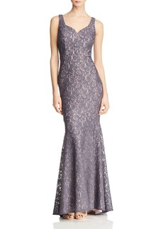 AQUA Shimmer Lace Gown - 100% Exclusive