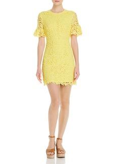 AQUA Short-Sleeve Floral-Lace Dress - 100% Exclusive