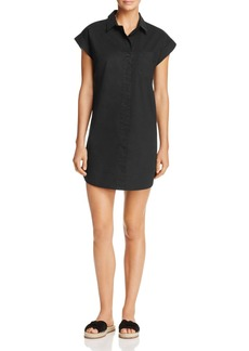 AQUA Short-Sleeve Poplin Shirt Dress - 100% Exclusive