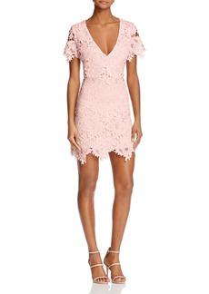 AQUA Short-Sleeve Scalloped Lace Dress - 100% Exclusive