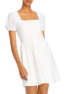 AQUA Short-Sleeve Square Neck Dress - 100% Exclusive