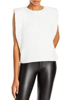 AQUA Sleeveless Shoulder Pad Top - 100% Exclusive