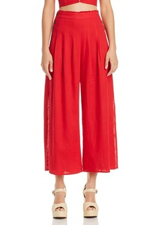 AQUA Side-Button Wide-Leg Pants - 100% Exclusive